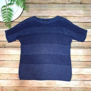 Lafayette 148 New York Hemp Sweater Blue Size P